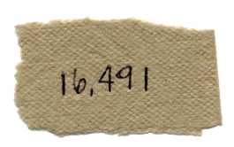 16491 written on a napkin