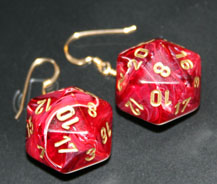 20-Sided Dice Earrings