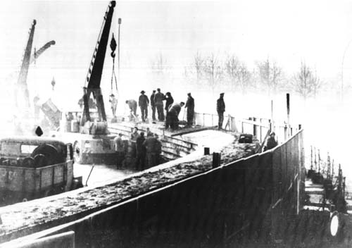 Photo of the Berlin Wall Being Built in 1961