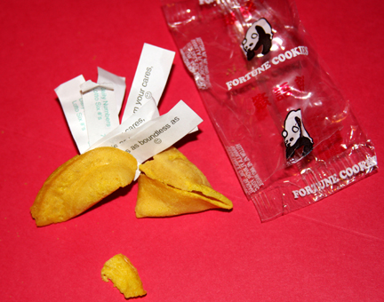 Kelly A. Harmon's Awesome Fortune Cookie with SEVEN fortunes inside!