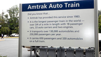 Amtrak Sign at the Depot