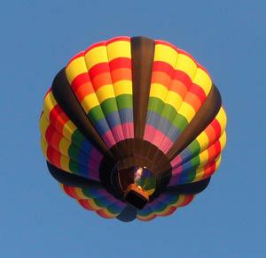 Hot Air Balloon - As seen from Underneath!