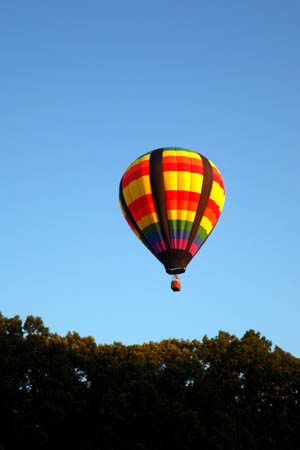 Hot Air Balloon - As seen from Underneath!