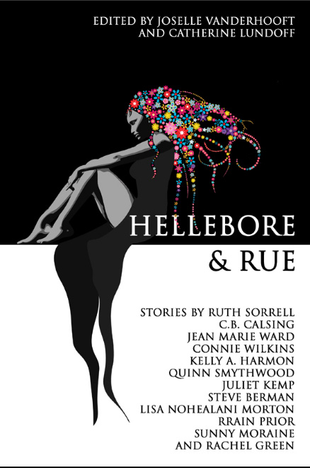 Cover of the anthology Hellebore and Rue