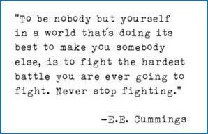 e.e. cummings poem - To be Nobody but Yourself