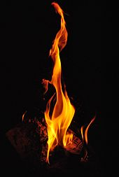 Photo of a single burning flame.