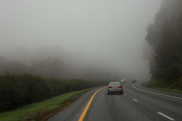 Foggy Commute Home - Photo by Kelly A. Harmon