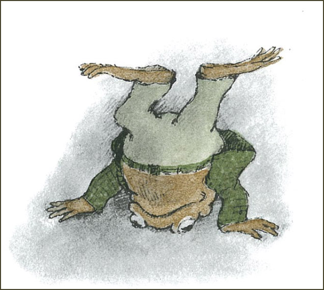 Toad Standing on His Head