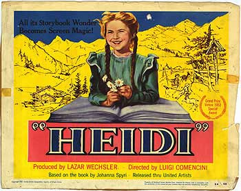 Movie Poster for the Movie Heidi