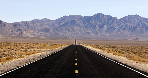 Alien Highway  - The Most Desolate Stretch of Road in the US, according to the NY Times