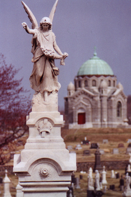 Angel Gabriel taken at Holy Redeemer Cemetery - Baltimore, MD  - by Kelly A. Harmon