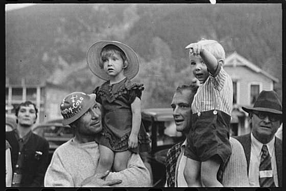Miners and their Children - 1940