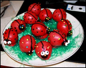 A plate of Ladybug Confections created by Kelly A. Harmon