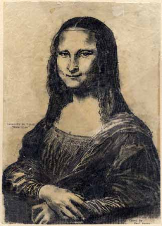 Mona Lisa Typed by Paul Smith