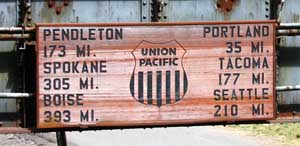 Pacific Railroad Sign - Photo by Kelly A. Harmon
