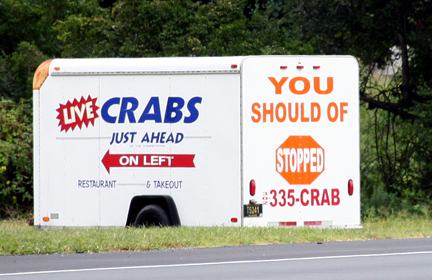 You Should Of Stopped (to Buy Crabs)