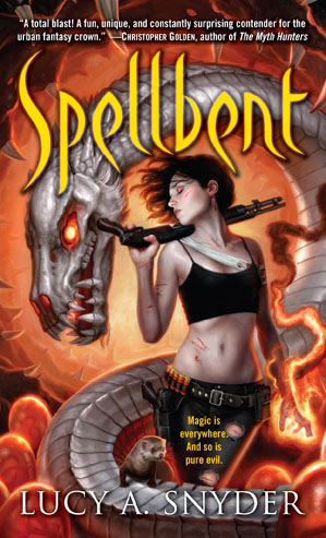 Book cover of Spellbent by Lucy A. Snyder