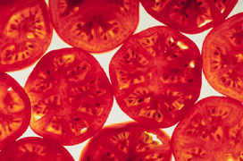 Sliced tomatoes - photo from the ARS Image Gallery, USDA