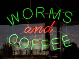 Worms and Coffee - North Carolina - Photo by Kelly A. Harmon - 10 August 2012