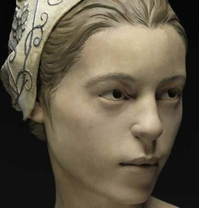 Reconstructed face of woman supposedly cannibalized in the Jamestown VA colony, 1609.