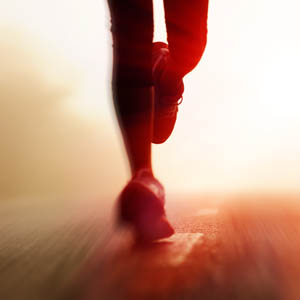 Image of a runner's feet:  Copyright: Warren Goldswain
